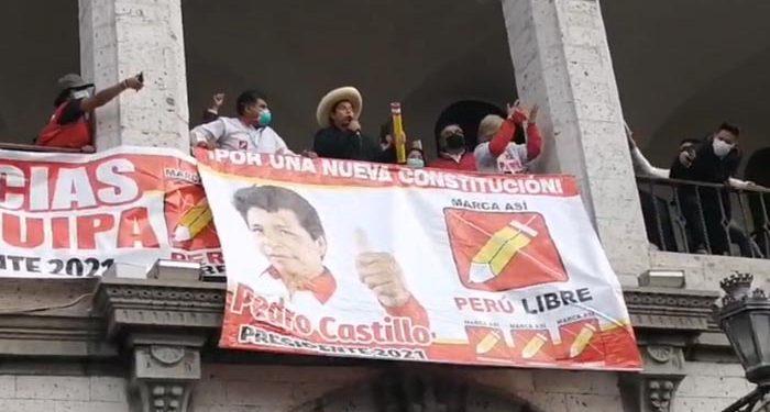 """Pedro Castillo: """"Estamos en el mejor momento para recuperar la patria"""""""