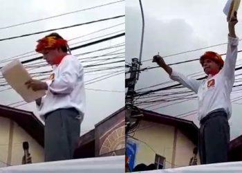 """Pedro Castillo firma """"Juramento por la Democracia"""" delante de simpatizantes"""