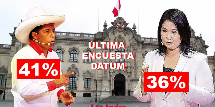 Pedro Castillo responde a última encuesta Datum en donde sube Keiko Fujimori