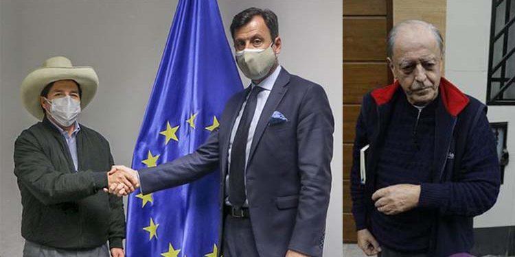 Pedro Castillo se reúne con embajador de la Unión Europea y el expresidente del BCR