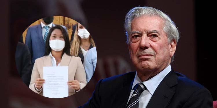 """Vargas Llosa: """"Yo creo en Keiko Fujimori (...) Ella representa la libertad y el progreso"""""""