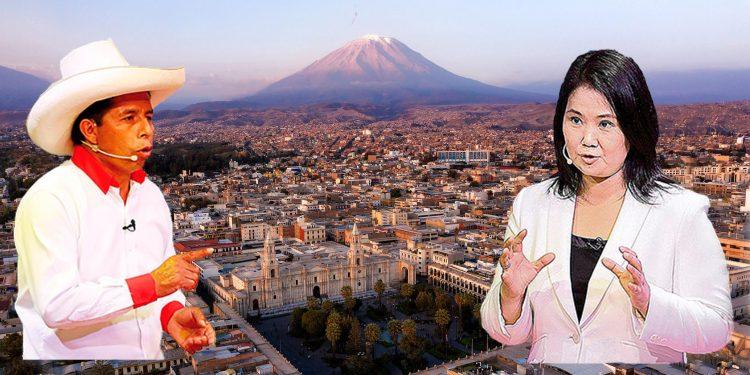 JNE elige local para debate presidencial en Arequipa entre Castillo y Fujimori