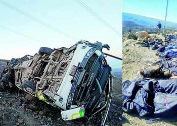 Fallecen 27 mineros que retornaban a Arequipa tras caída de bus a precipicio