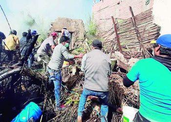 Arequipa: Incendio casi arrasa con una vivienda rústica en distrito Uraca-Corire