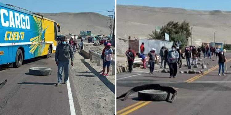 Arequipa: Bloquean Panamericana Sur en rechazo a expansión urbana de Marcona