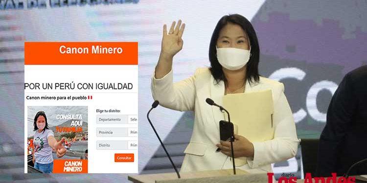 Denuncian a Keiko Fujimori por página web que ofrece dinero a cambio de votos