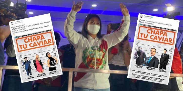 """Fiscalía inicia investigación a fujimoristas detrás de la campaña """"Chapa tu caviar"""""""