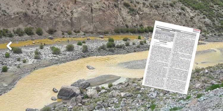 Islay en estado de emergencia por contaminación del río Tambo por empresa minera