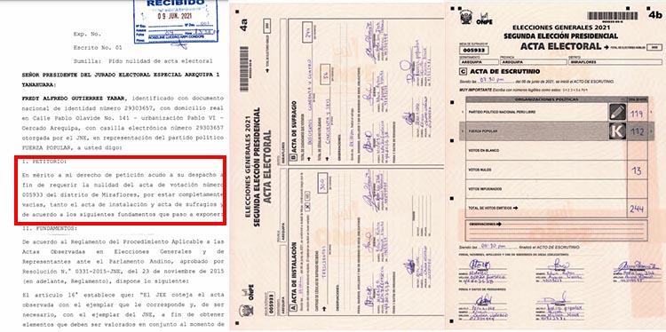 CASO 4: Acta 005933, del distrito de Miraflores.