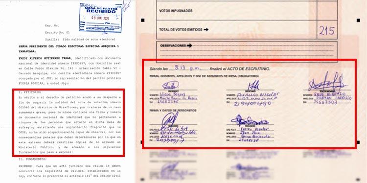 Acta 005960, del caso 2 en Miraflores.