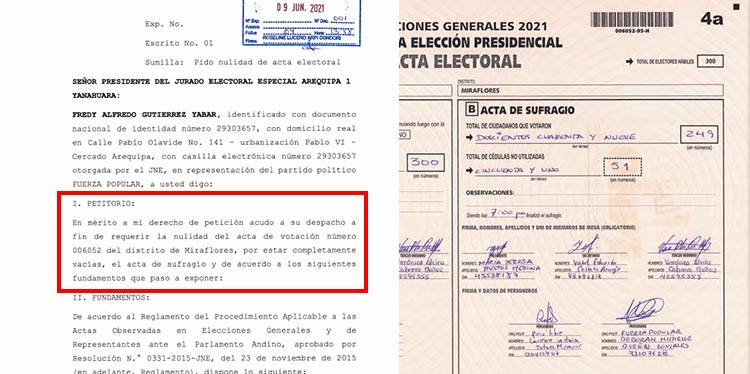 CASO 5: Acta 006052, del distrito de Miraflores.