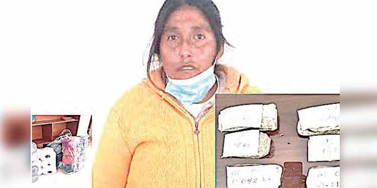 Puno: Dictan prisión preventiva para mujer que trató ingresar droga a penal de Juliaca