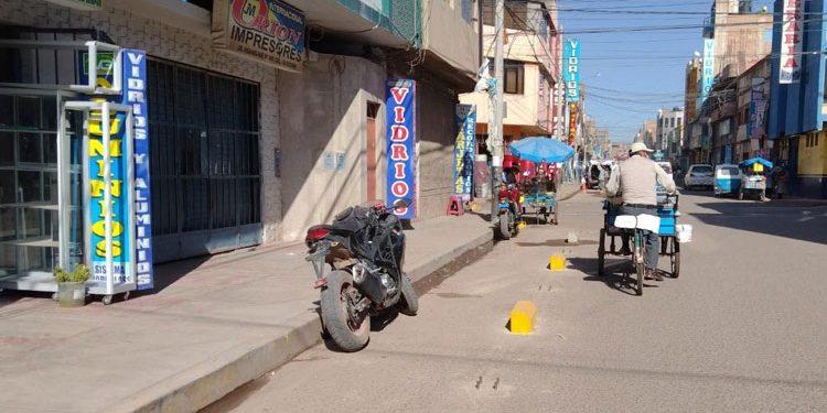 Regidor exige la paralización de la instalación de ciclovías en la ciudad de Juliaca