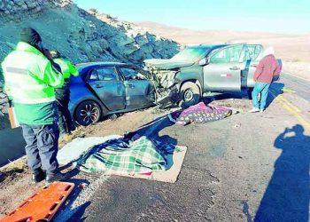 Cuatro fallecidos y seis heridos en trágico accidente en la vía Arequipa-Juliaca