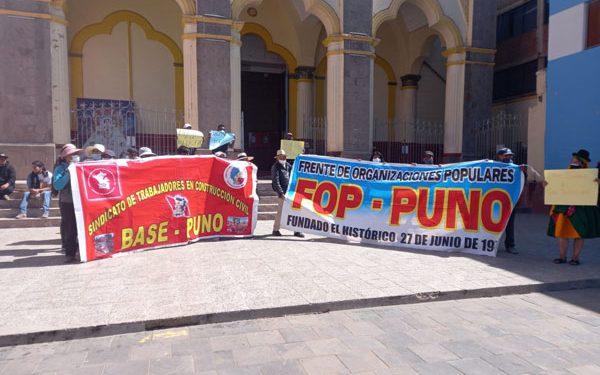 Organizaciones sociales protestaron por alza de precios de productos de primera necesidad
