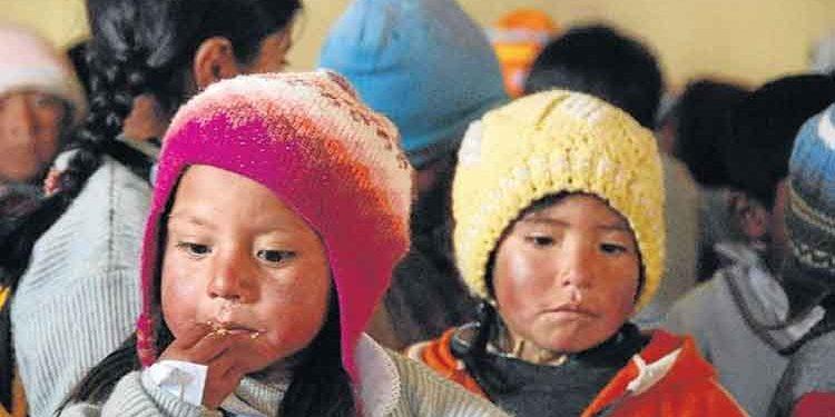 Puno: Ocho de cada diez niños padecen de anemia debido a la pandemia de la Covid
