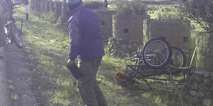 Triciclista fallece tras ser atropellado por un vehículo interprovincial en Ajoyani