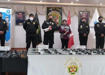 Policía decomisó 51 armas de fuego que eran usadas sin autorización de Sucamec