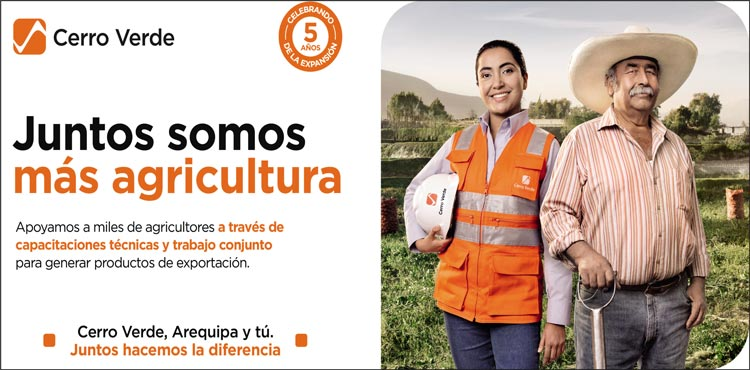 Cerro Verde apoya a los agricultores capacitándolos para la reactivación económica