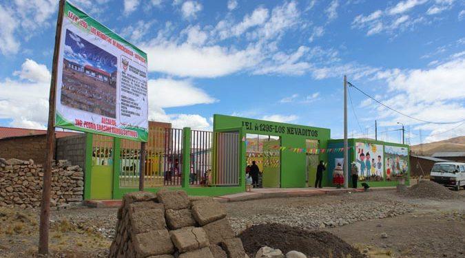 Inauguran cerco perimétrico de la IEI N° 1295 de Jatucachi, ubicada en zona de frontera