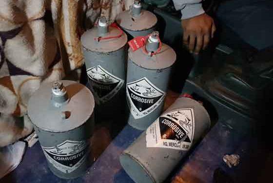 Incautan más de 500 kg de mercurio transportados ilegalmente a Arequipa