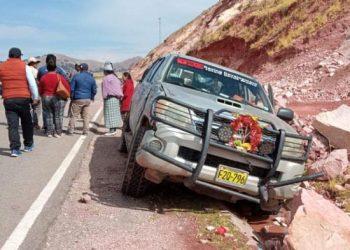 Motociclista muere tras colisionar contra una camioneta en la carretera a Huancané
