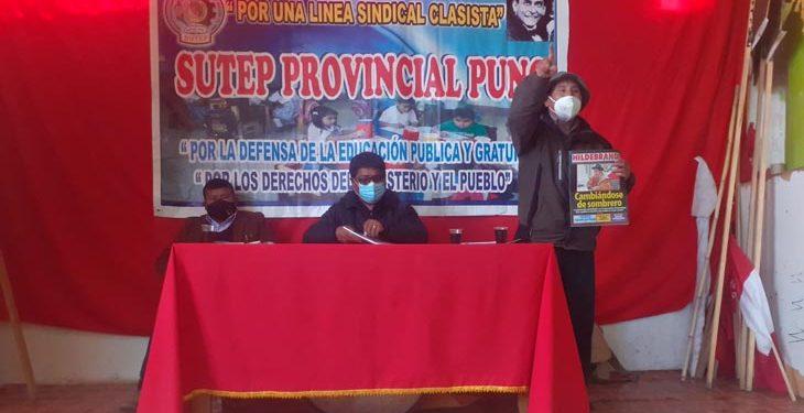 """Dirigente del Sutep tomará acciones legales contra quienes lo acusaron de """"terrorista"""""""