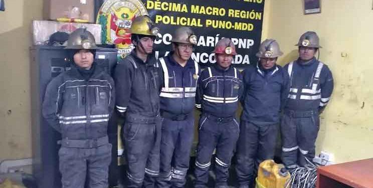 Prisión preventiva para sujetos que hurtaban oro en bocamina de La Rinconada