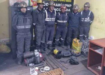 Cae presunta banda delincuencial que extraía mineral ilegalmente en La Rinconada