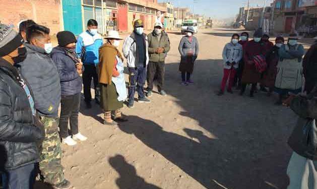 Pobladores de la salida a Lampa solicitan asfaltado de 3 kilómetros de calle