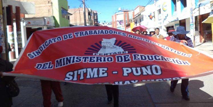 Sindicato de Trabajadores Administrativos de la Educación exige reivindicación de derechos laborales