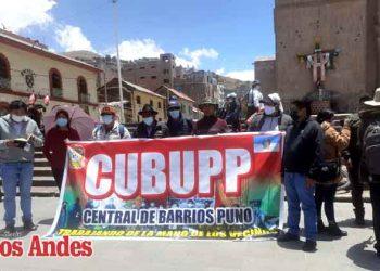 Puno: Central de Barrios y Urbanizaciones cuestiona gestión municipal