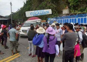 San Gabán: Cocaleros paralizan indefinidamente la carretera interoceánica
