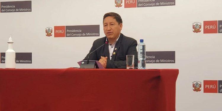Guido Bellido da conferencia de prensa tras su renuncia a la Presidencia del Consejo de Ministros