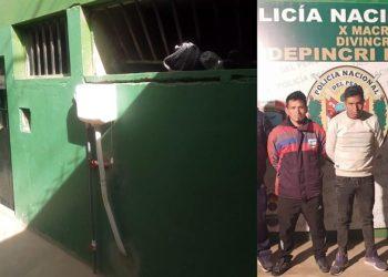 Juliaca: Traficantes de drogas fugan de calabozo forzando una ventana de la carceleta