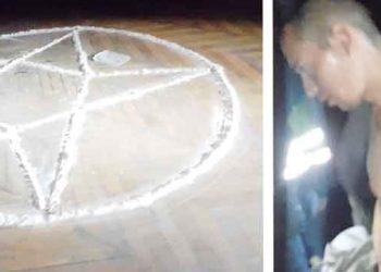 Arequipa: Rito satánico en exmuseo de arte se hace viral en redes sociales